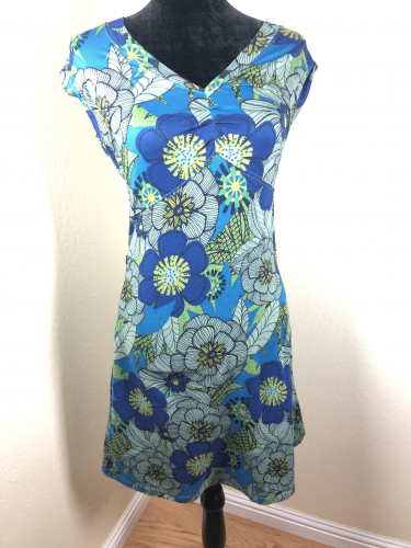REI s/s floral stretchy  dress