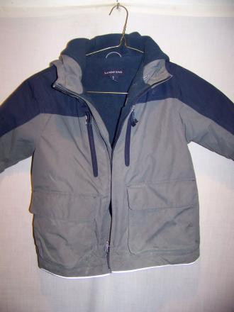 Lands End Fleece Lined Hooded Jacket, Kids 4 SM