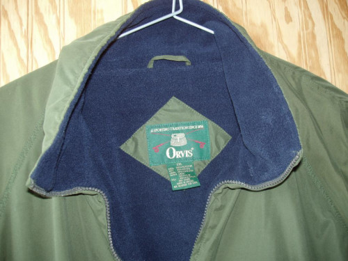 ORVIS Fleece Jacket Size XXL