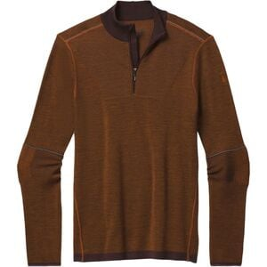 IntraKnit Merino 250 Thermal 1/4-Zip Top - Men's Woodsmoke/Monument Orange, M - Good
