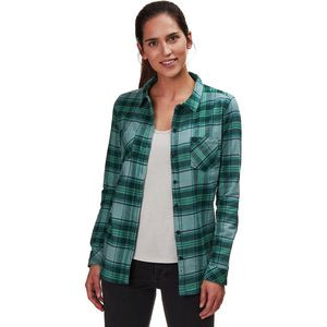Meadow Flannel - Women's Green Plaid, S - Excellent