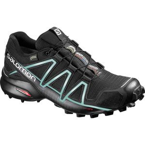 Speedcross 4 GTX Trail Running Shoe - Women's Black/Black/Metallic Bubble Blue, US 9.5/UK 8.0 - Good