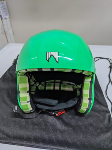 Lime Green Shred Helmet
