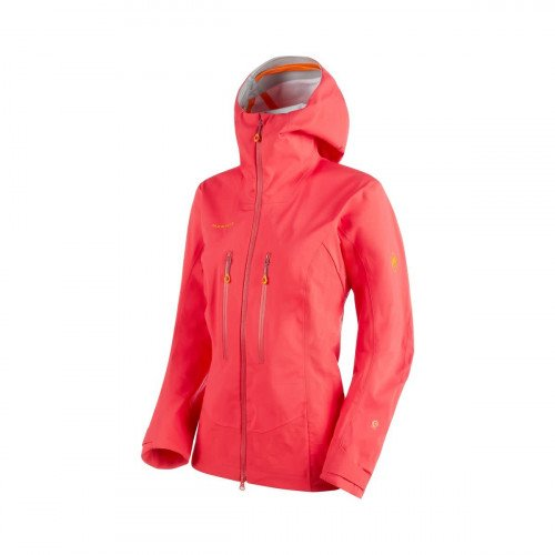 Mammut Eisfeld Women's Guide Hooded Jacket - Size M, Sunset