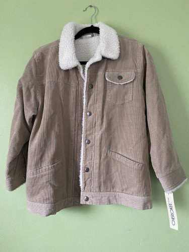 Cherokee Fleece-Lined Corduory Jacket - Brand New!