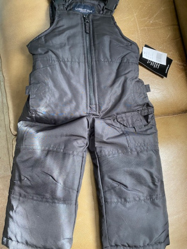 London Fog - Toddler 2T- Heavyweight Snow Bib Ski Pant Snowsuit