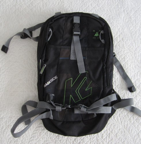"K2 Backside Black & Green Backpack 19"" x 11.5"""