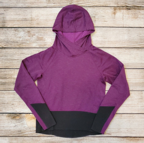 Women's Oakley Purple & Black Microgrid Fleece Hoodie