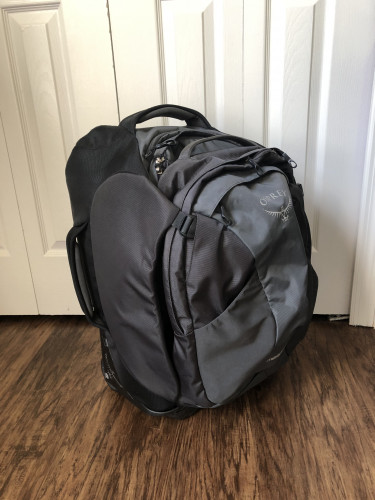Osprey Packs Meridian 60L/22 Wheeled Luggage in Steel Gray