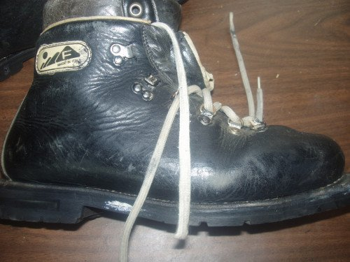Double Leather Cross Country Ski Boots