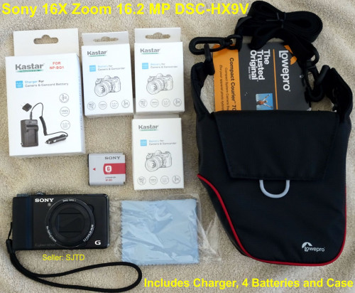 Sony 16X Zoom 16.2 MP Compact Camping Hiking Travel Camera