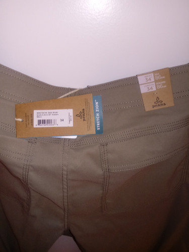 Prana Stretch Zion pant (34 waist/34 length)