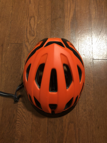 Orange Specialized Centro Medium Helmet Worn Twice