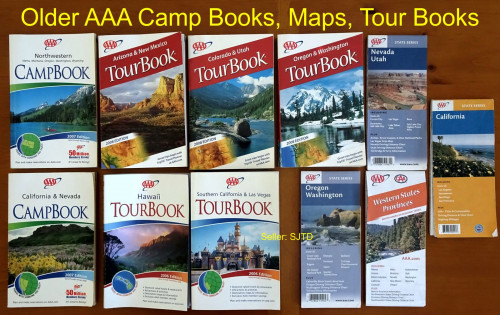 Older AAA Camp Books, Maps, Tour Books Bundle