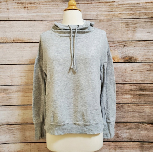Women's Yogalicious Light Gray Heather Cowl Neck Hoodie