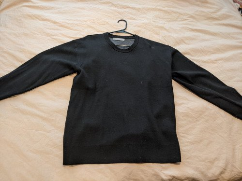 Merino wool crew neck sweatshirt