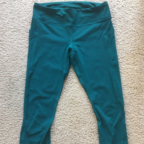 Lululemon Pace Rival 22in Crop - Teal - sz 10