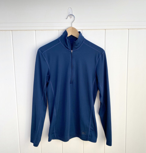REI quarter zip pullover base layer shirt