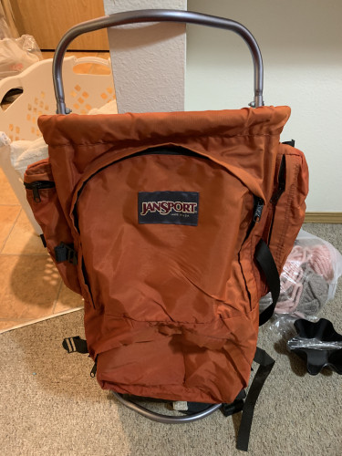 Vintage Jansport hiking backpack with external Frame