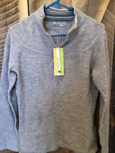 Smartwool 1/2 Button Pullover Sweater, NWT