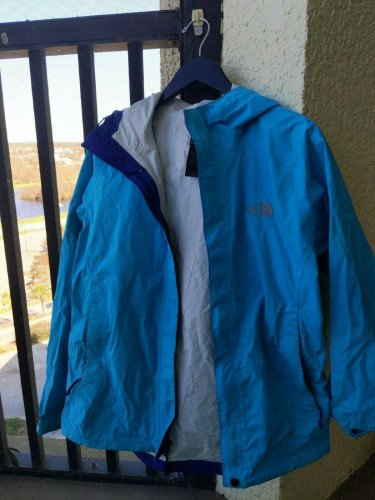 Women's Light Blue North Face Rain Jacket Size Small