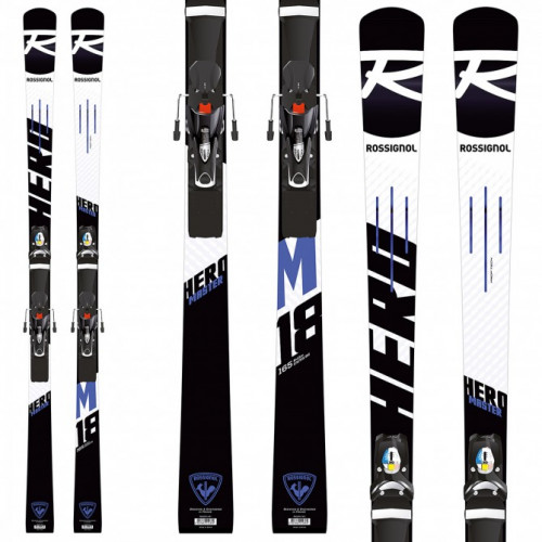 GENTLY USED ROSSIGNOL HERO MASTER W/ LOOK SPX 15RF- 175cm