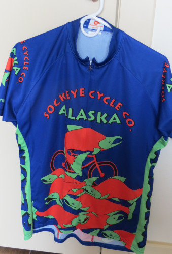 ALASKA SALMON BIKE SHIRT SHORT SLEEVE