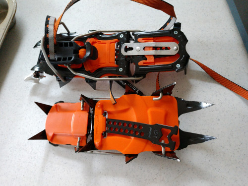 1 pair like new petzl vasak crampons