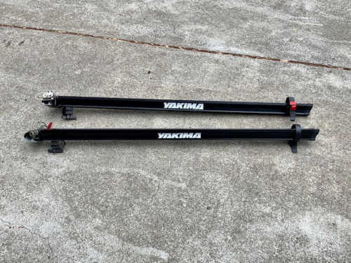 2 Yakima Steelhead bike carriers for roof rack