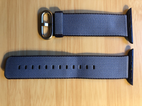 Genuine Woven Nylon Apple Watch band 38mm in blue