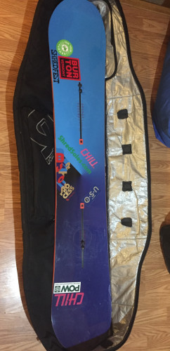 Burton Process 162 w/Cartel EST Bindings & Wheelie Bag