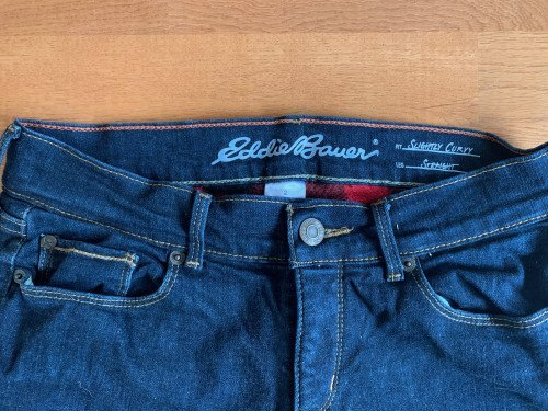 Eddie Bauer Fleece-Lined Jeans - Very Warm! (Size 2, runs large)