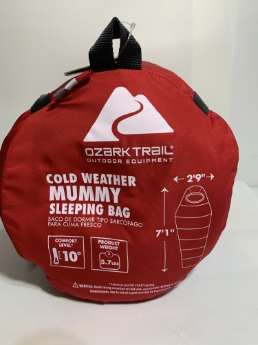 Ozark Trail Cold Weather Mummy Sleeping Bag