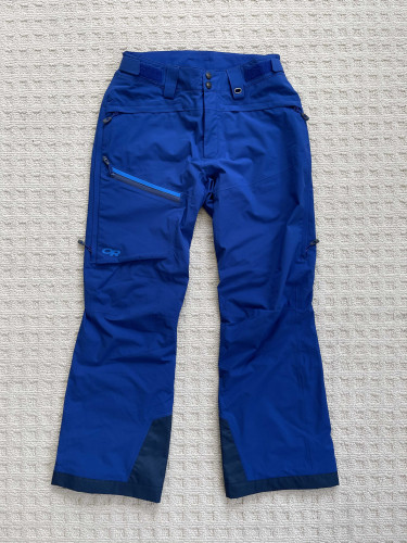 Outdoor Research Mens Offchute Snow/Ski Pant - Blue - Size M