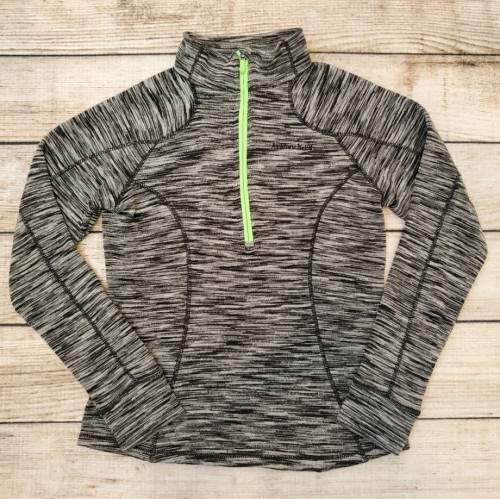 Women's Avalanche Black & Grey Marled 1/2 Zip Sweatshirt
