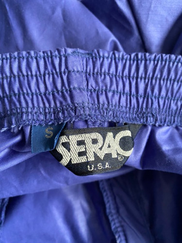 Serac shell pants with vertical zipper up leg
