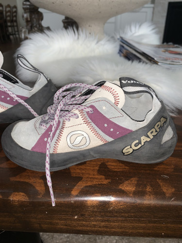 Scarpa Helix Lace Climbing Shoe Women Size 35 US 4.5 Purple & G