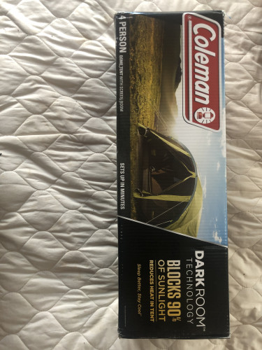 Dark Room, heat/sun blocking 4 person tent. BRAND NEW UNUSED