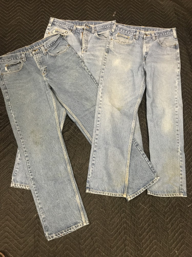 LOT OF 3 Carhartt denim/work/camp jeans