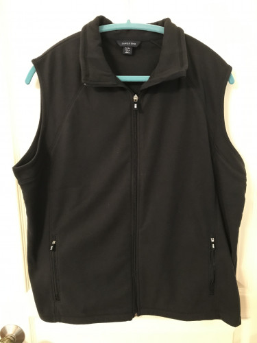 Men's Black Large fleece performance vest