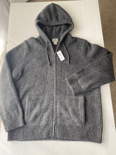 Brand new Ragg Wool - Full zip Hoodie - Grey - XL