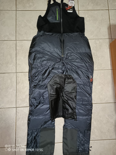 Nilas down climbing winter high altitude alpine bibs pants