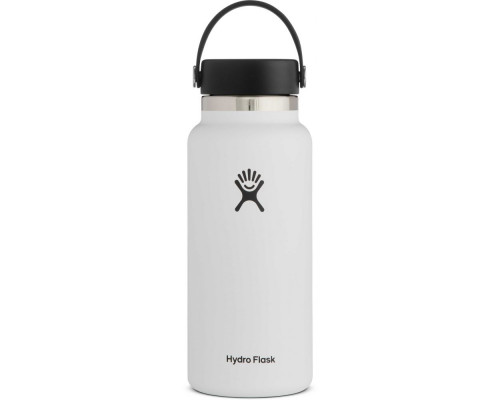 HYDRO FLASK 32OZ WIDE MOUTH WATER BOTTLE- White