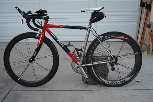 Seven Cycles Axiom SG Titanium/Carbon Road or Triathlon Bike
