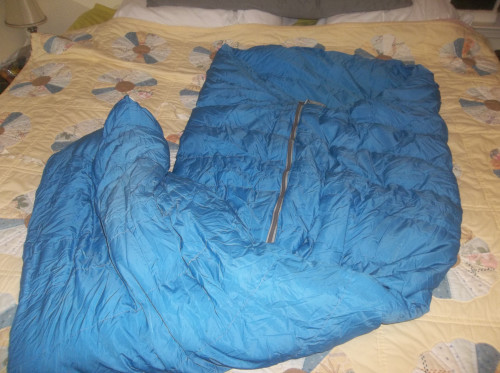 VERY Early Gerry Goose Down Wide Body Half Zip Sleeping Bag READ
