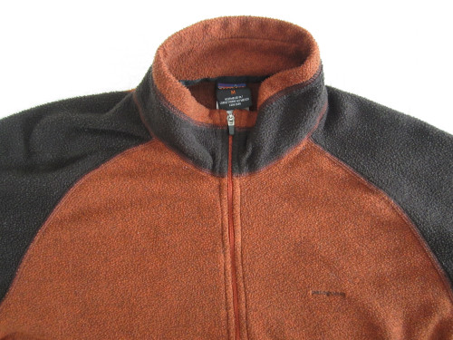 Patagonia Brown 1/4 Zip Capilene Fleece Base Layer Shirt Medium