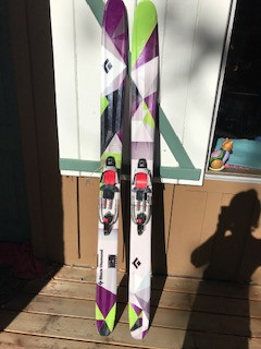 Black Diamond Amperage 185 with 22 Design AXL Telemark Bindings