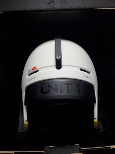 Unit 1 helmet Sz M, white