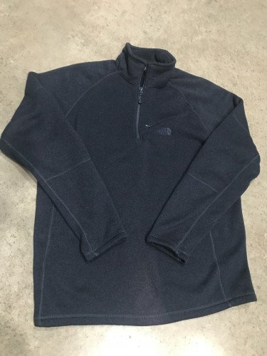 North Face 1/4 zip pullover sweater (navy blue)