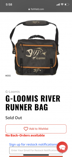 G-Loomis River Runner Bag Moss